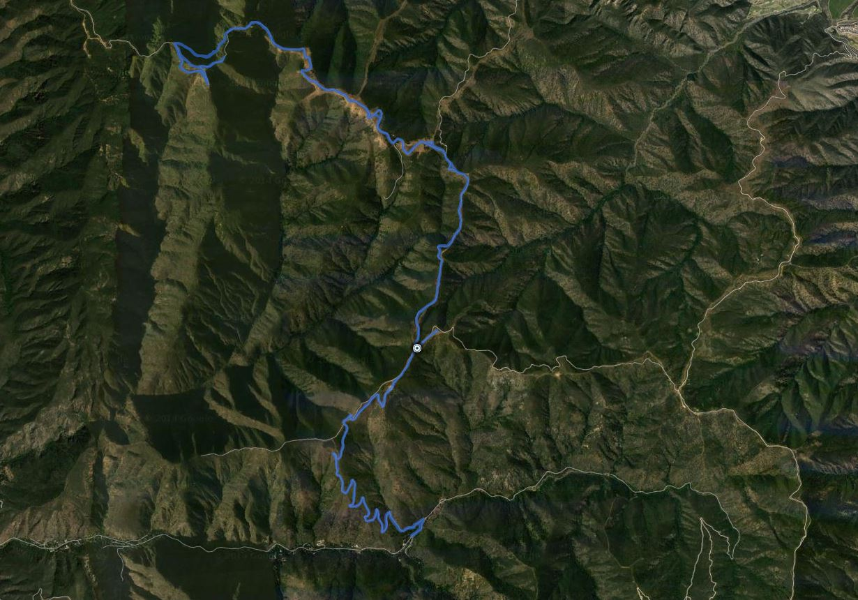 Bedford Peak and Pleasants Peak GPS Track