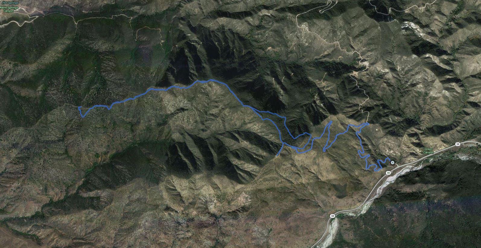 Mortons Peak Lookout + Cram Peak – GPS Track