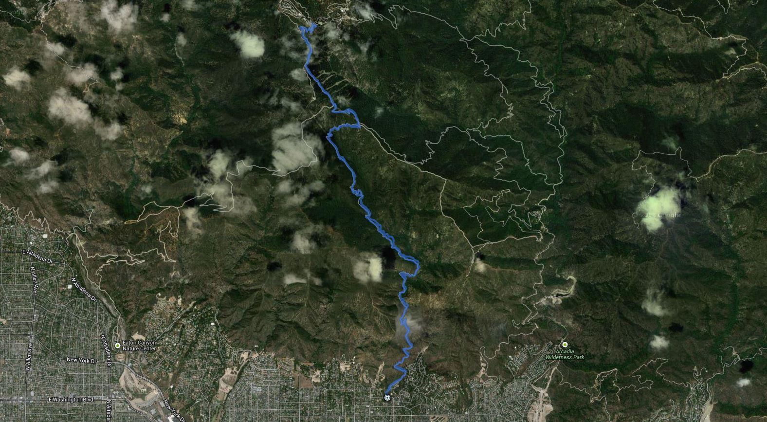 Mount Wilson – GPS Track