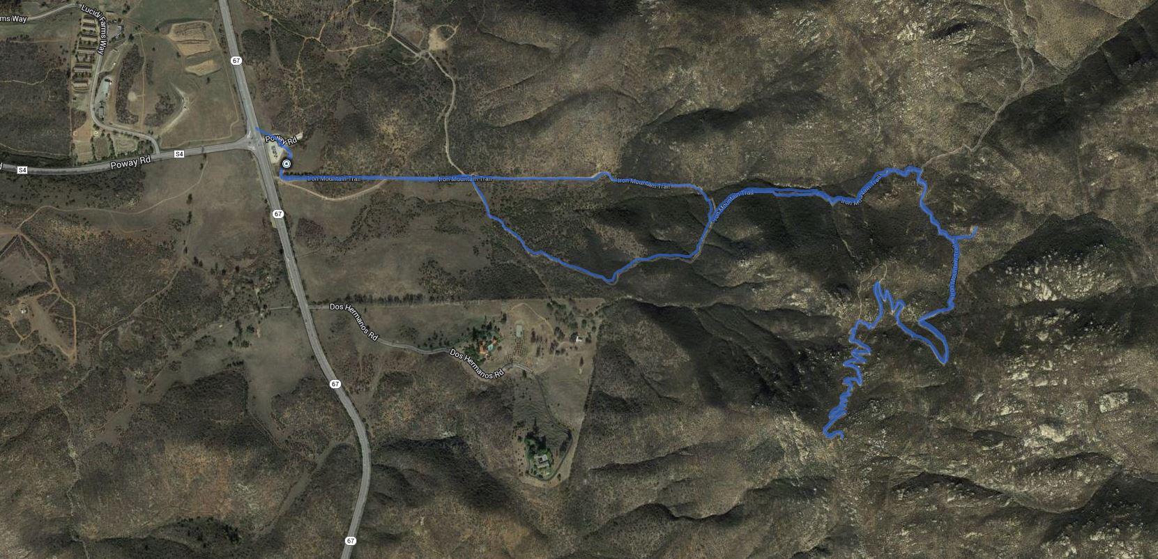 Iron Mountain (Poway) – GPS Track