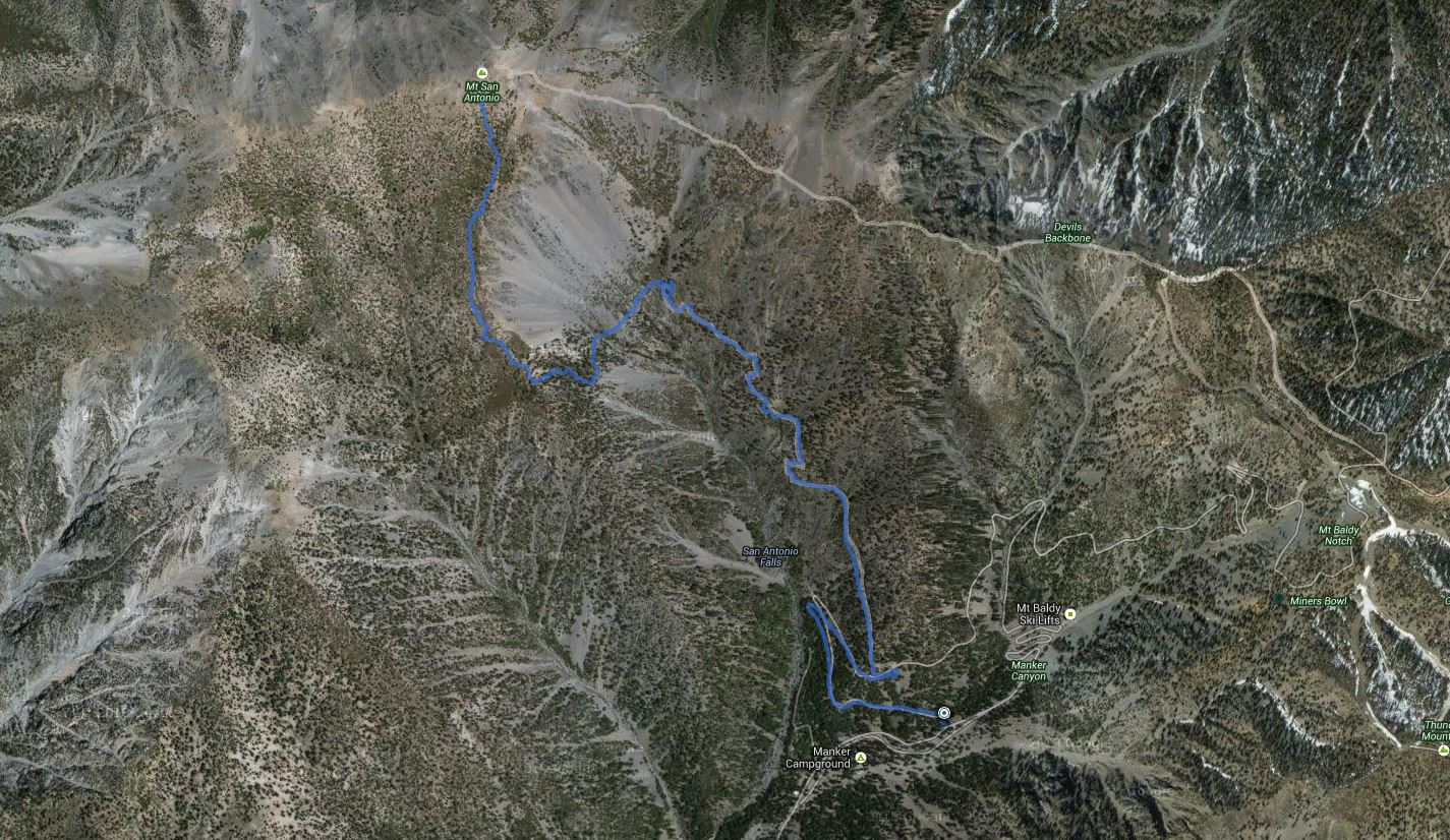 Mount San Antonio (Mt Baldy) – GPS Track