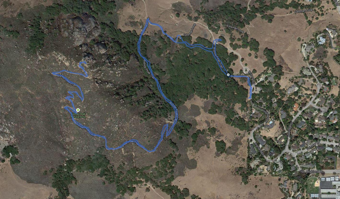 Bishop Peak – GPS Track