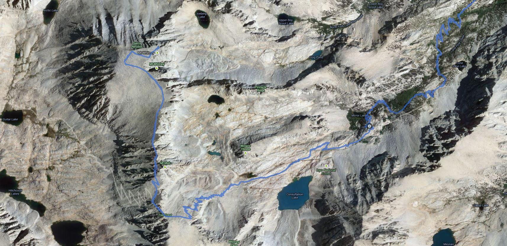 Mount Whitney – GPS Track