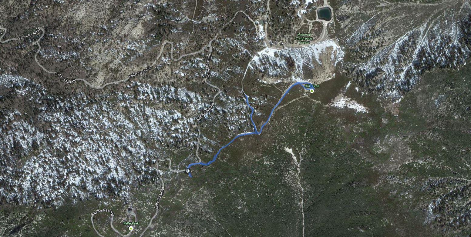 Slide Peak – GPS Track
