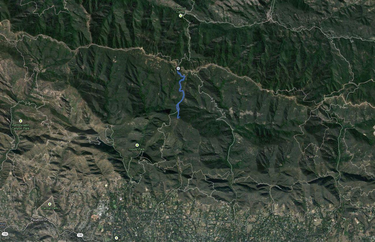 Montecito Peak – GPS Track