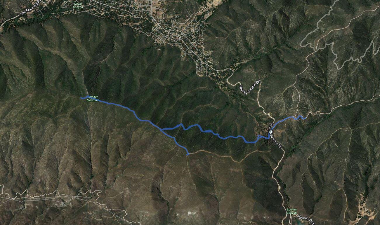 Jupiter Mountain, Juno Peak – GPS Track