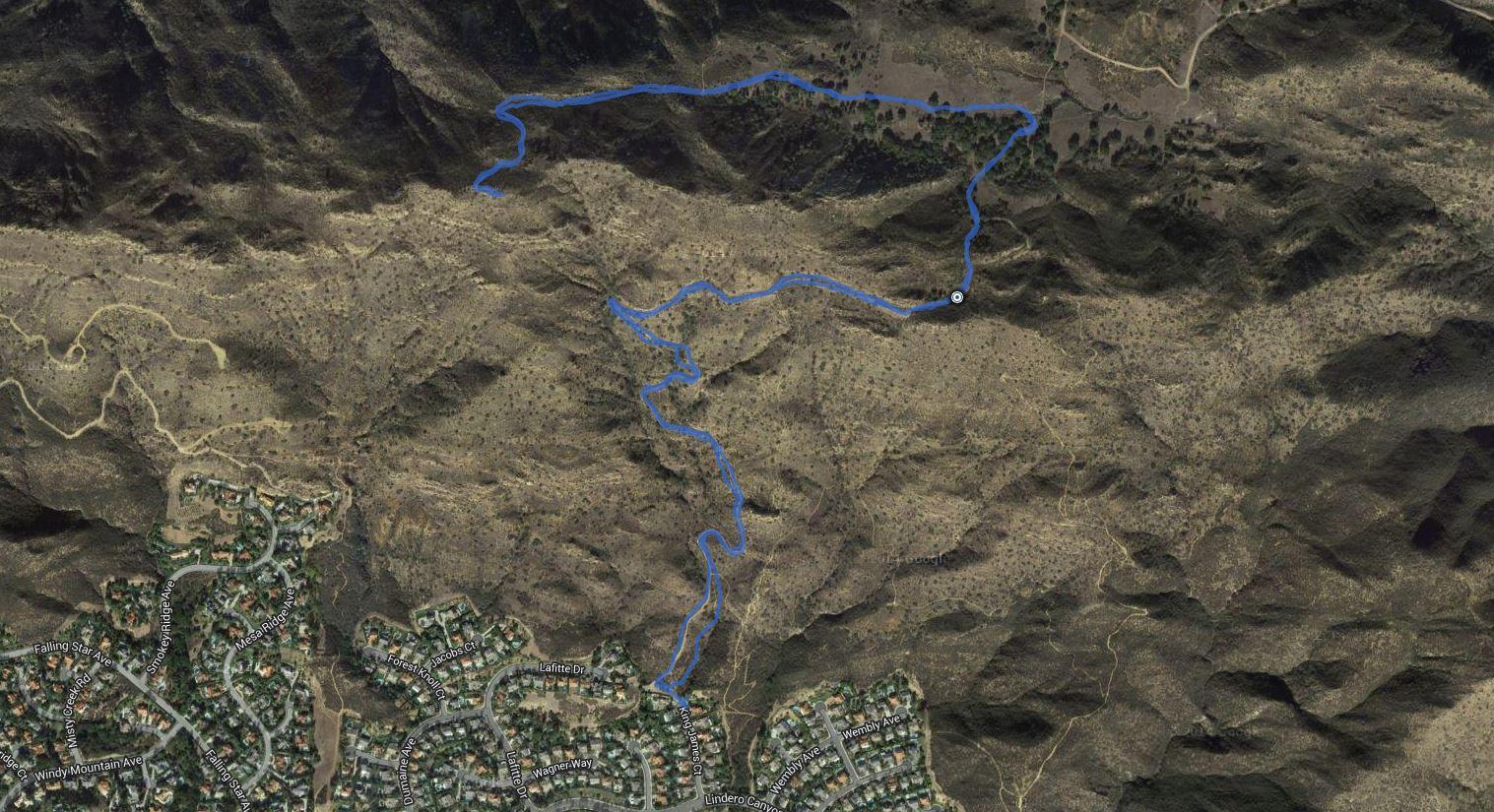 Simi Peak – GPS Track
