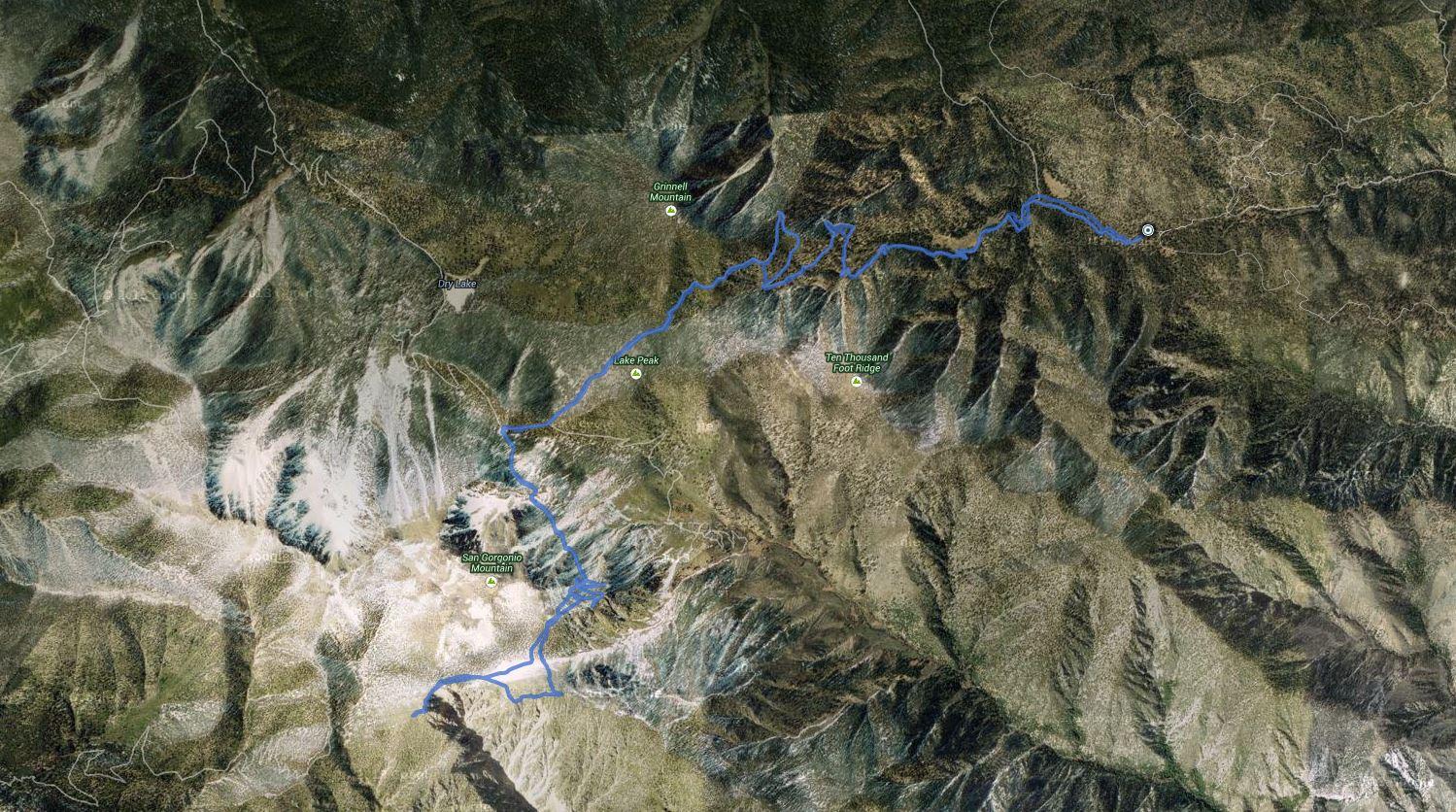 Dragons Head, Bighorn Mountain – GPS Track