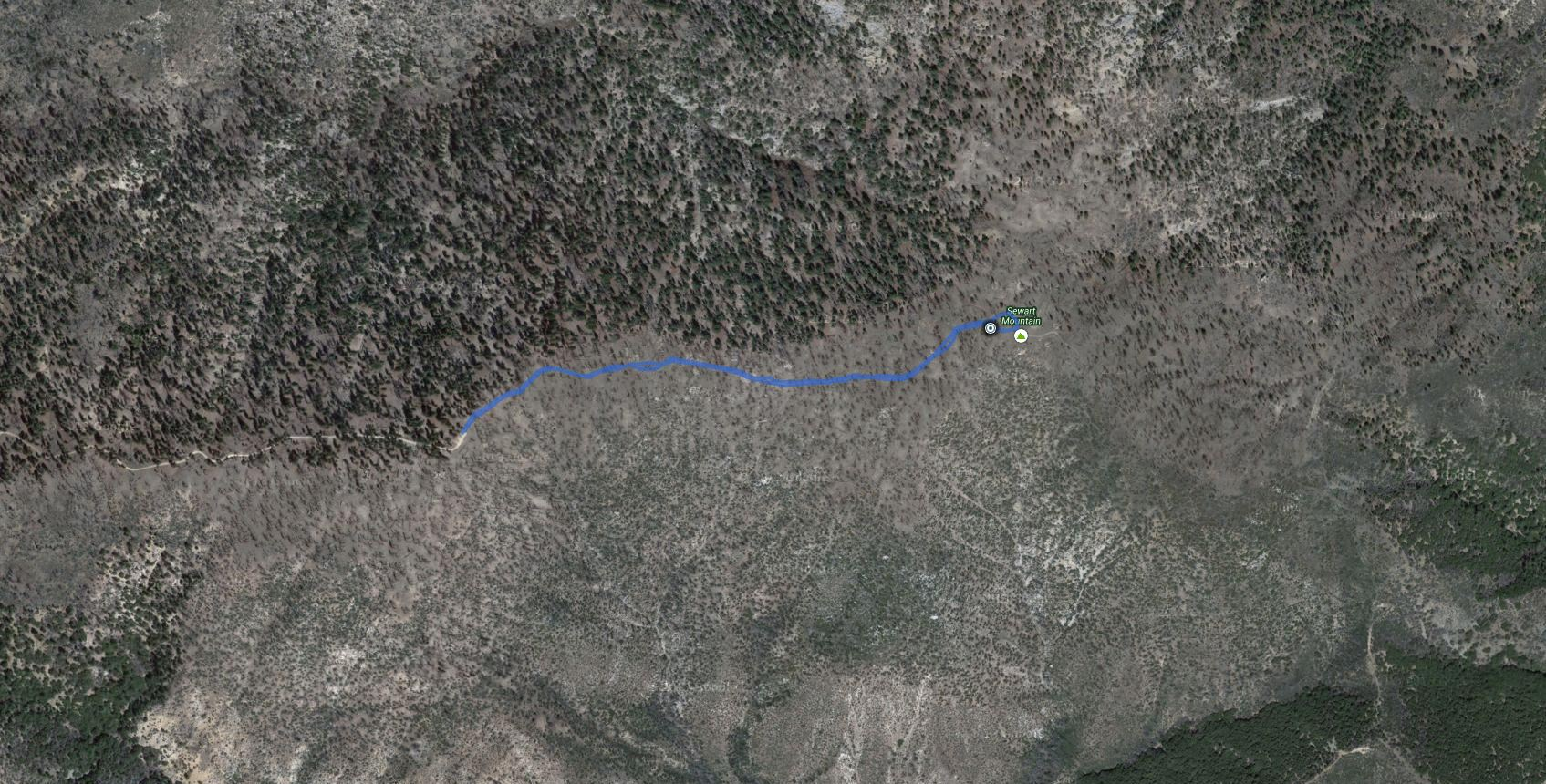 Sewart Mountain – GPS Track