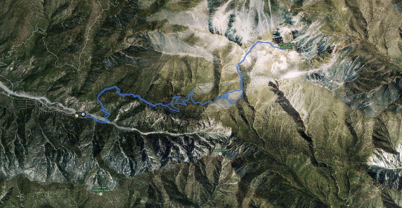San Gorgonio Mtn via Vivian Creek #3 – GPS track