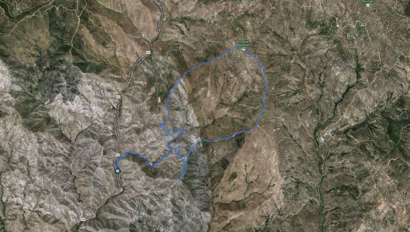 Rabbit Peak, Granite Mtn, Round Top, Iron Mtn – GPS Track