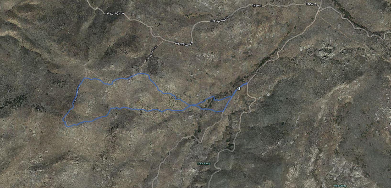 Luna Mountain – GPS Track