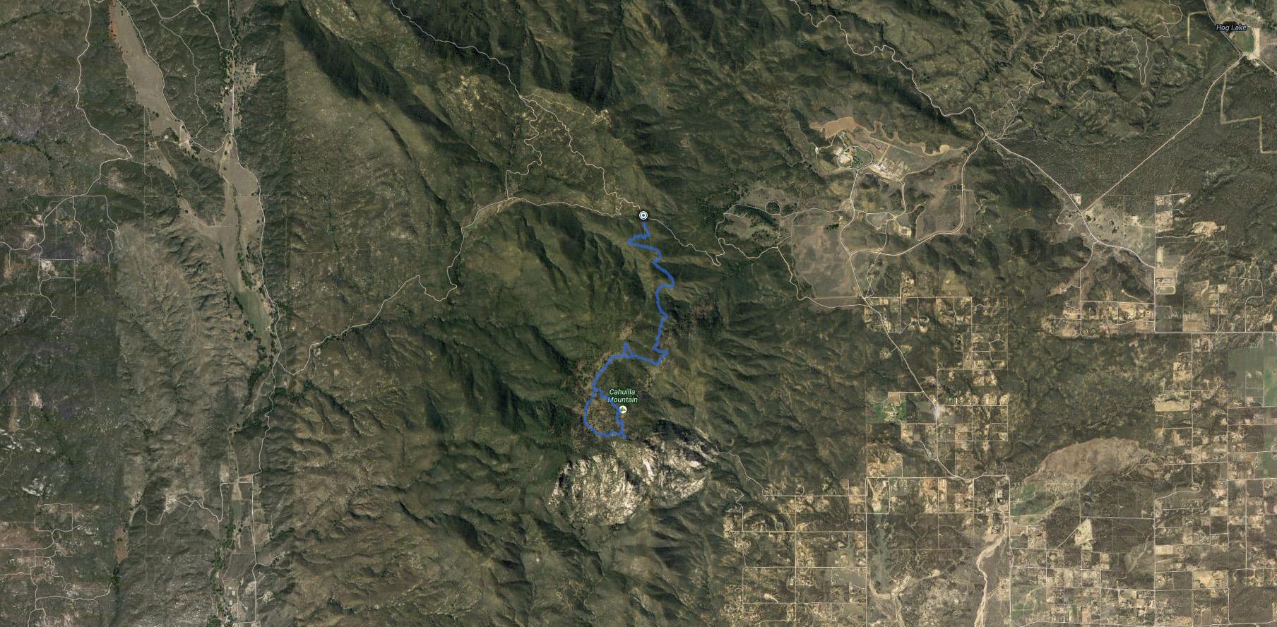 Cahuilla Mountain, Coahuilla Benchmark – GPS Track