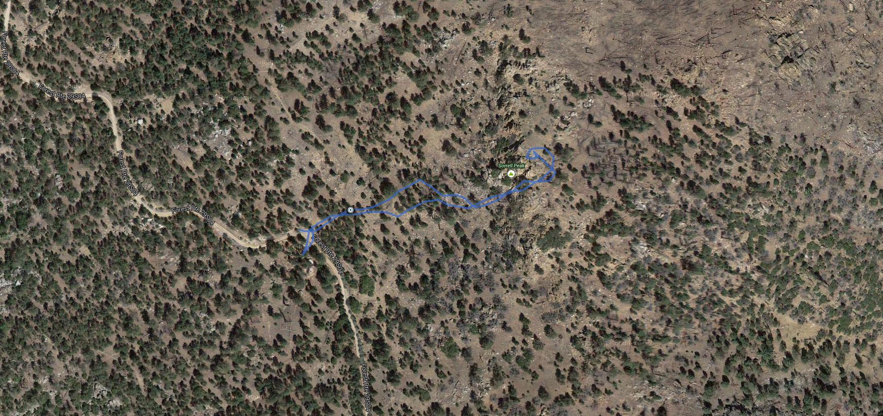 Sorrell Peak – GPS Track