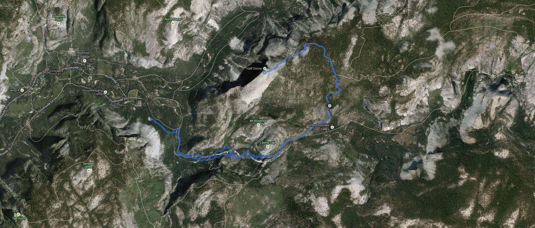 Half Dome – GPS Track