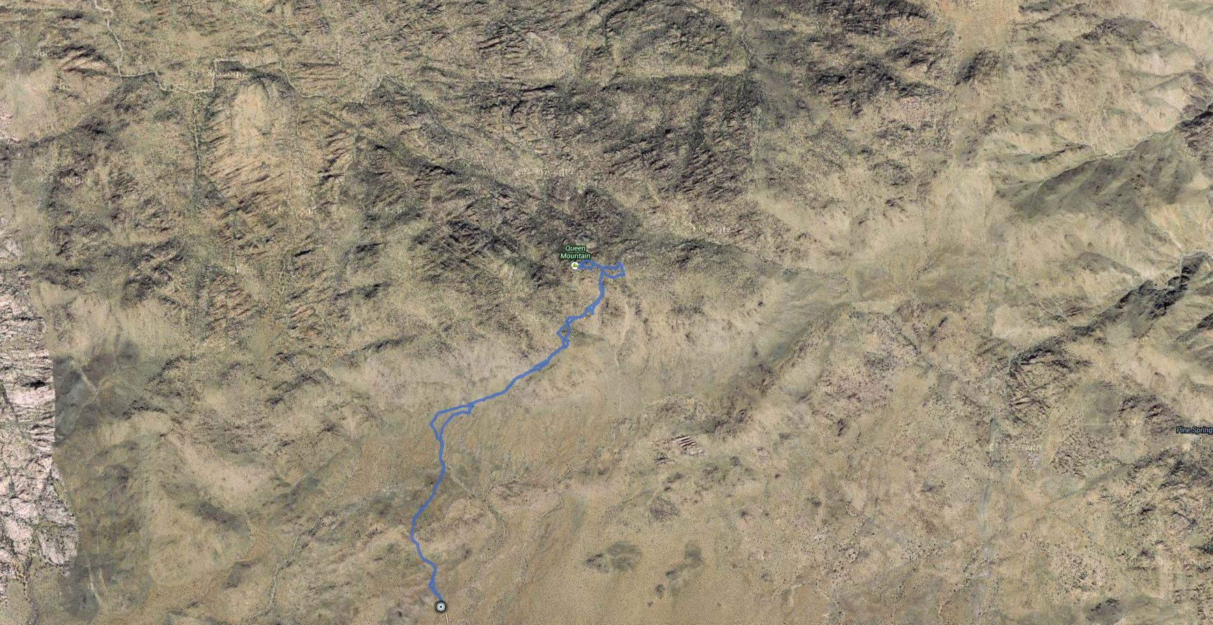 Queen Mountain, Queen Benchmark – GPS Track