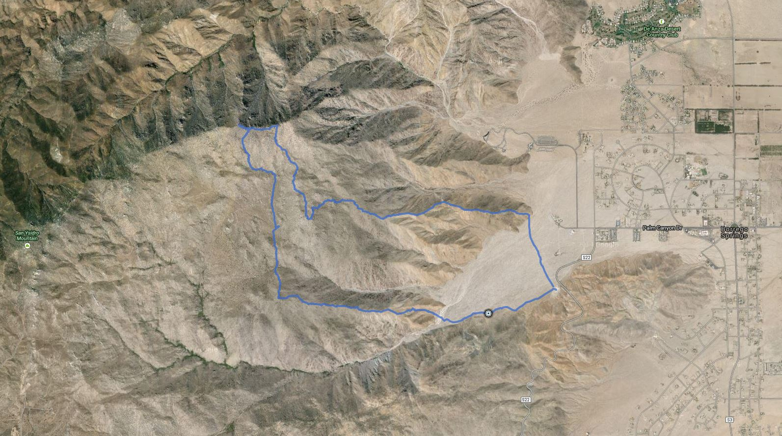 Ode BM, Key BM, Sirens Peak, San Ysidro Mtn East, Tuck BM, Webo BM, Ted BM – GPS Track
