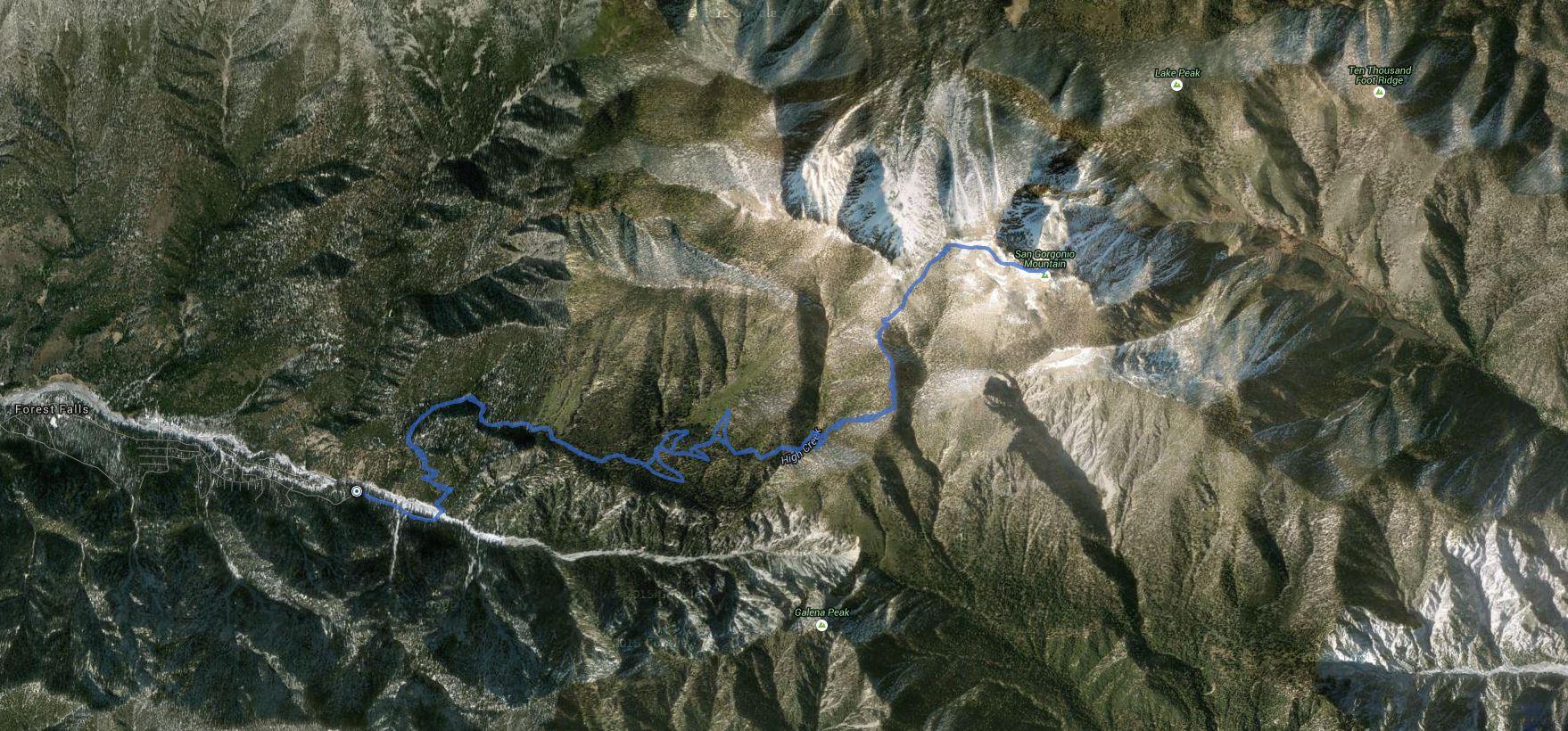 San Gorgonio Mountain – GPS Track