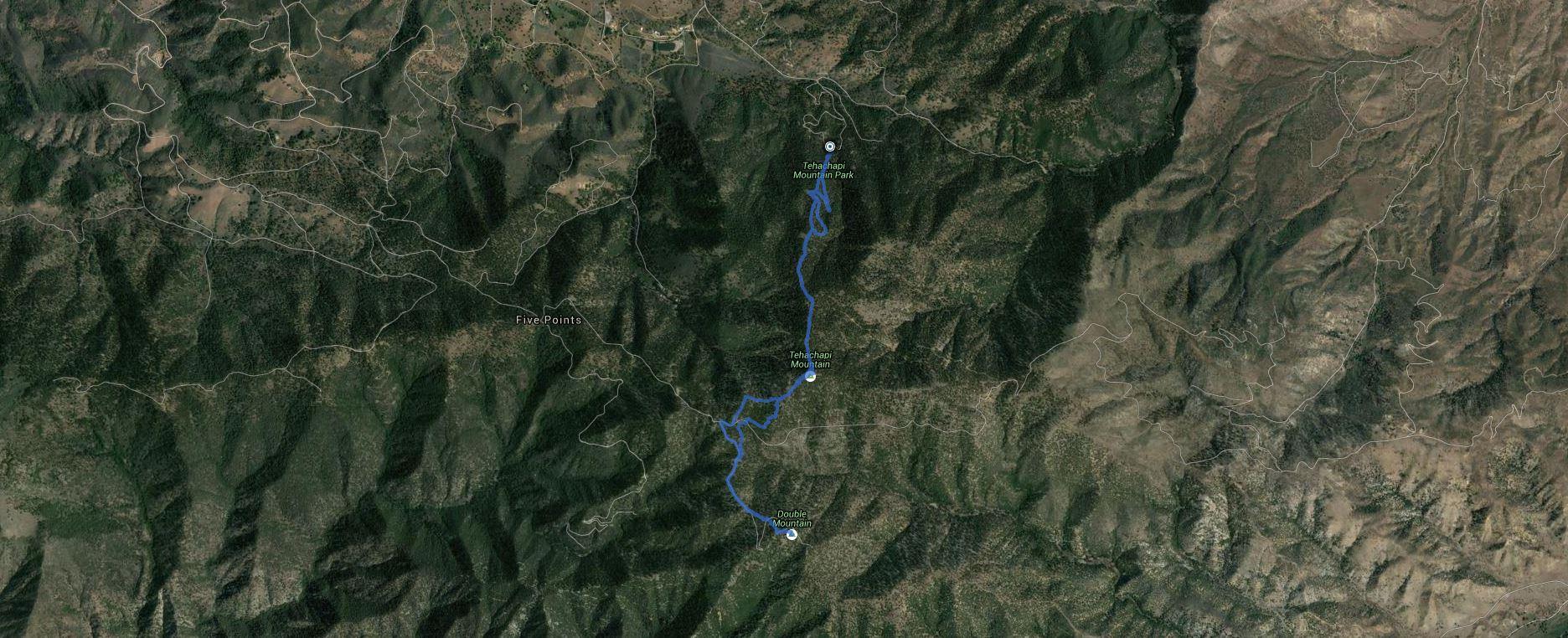Tehachapi Mountain, Double Mountain – GPS Track