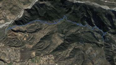 Mill Benchmark, Allen Peak – GPS Track