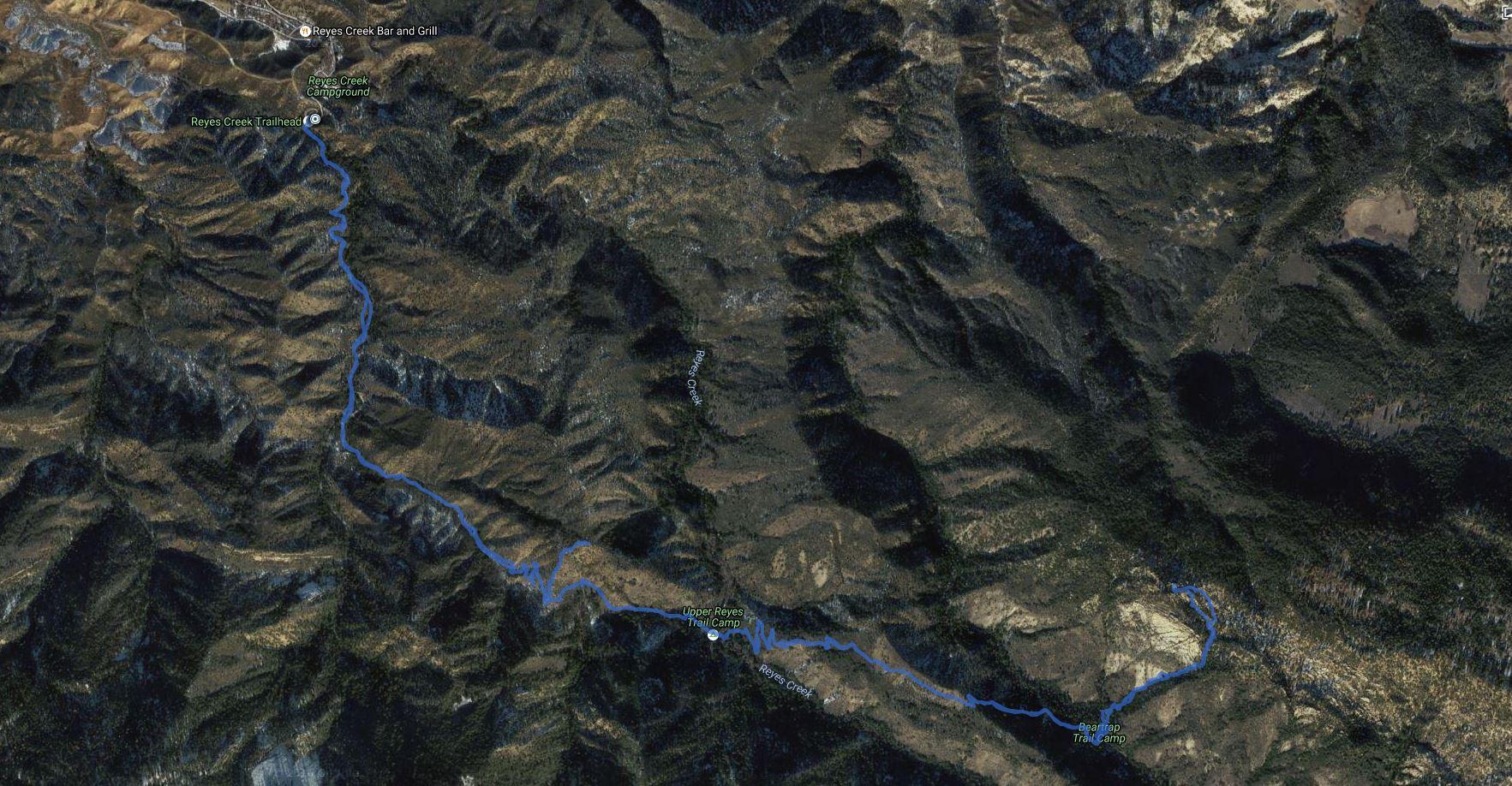 Beartrap Bluff, Peak 5180 – GPS Track | Patrick ONeill's